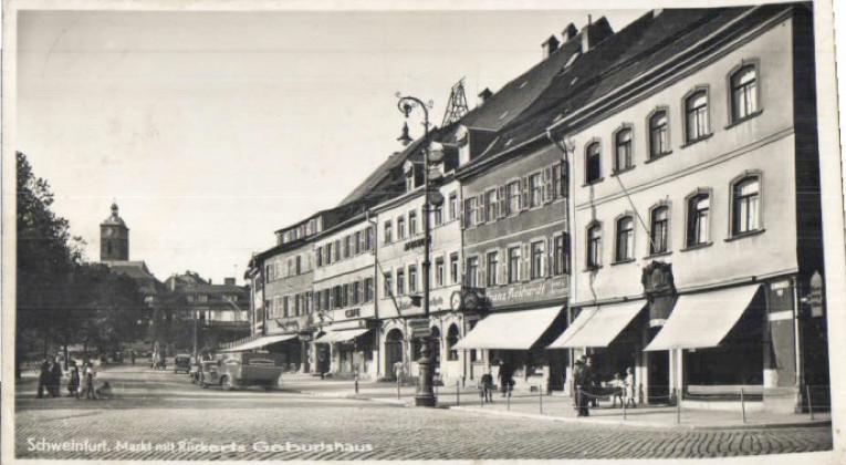 Marktplatz Ost mit Geburtshaus Friedrich Rückerts