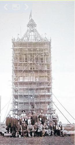 Bau des Wasserturms am heutigen Bergl (damals die Wasserversorgung des Ortes Oberndorf) (1911)