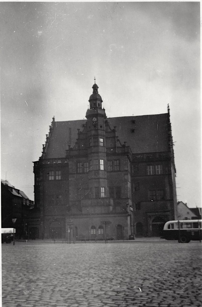 Rathaus im Jahr 1948 - Danke an Frau Ingrid Metz aus Schonungen