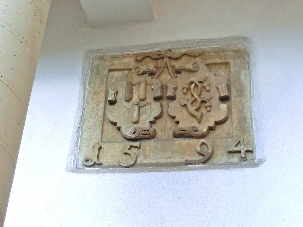 Ehewappen Rüffer-Kaltenhöfer  1594 im Innenhof
