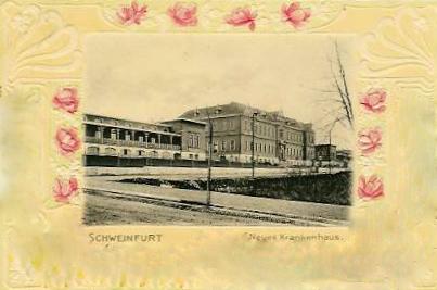 "Prägekarte ""Neues Krankenhaus"" 1902"