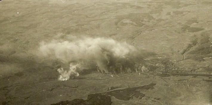Bomben treffen Schweinfurt 14.10.1943