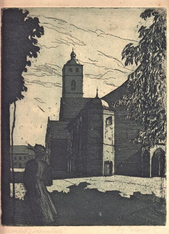 St. Johanniskirche - Radierung - unbekannter Zeitpunkt..
