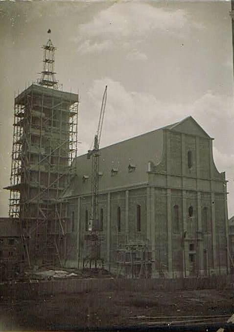 Während des Neubaus 1927 - Danke an Karl Dill!