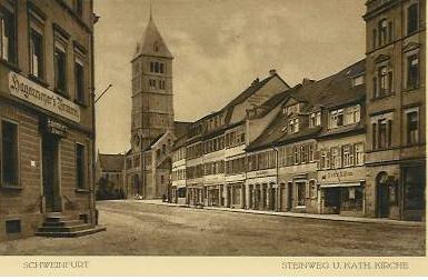 ganz links: Gaststätte Hagenmeyer ca. 1918