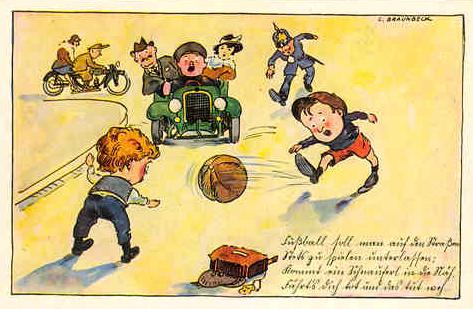 Alte Reklamepostkarten (oben und unten)