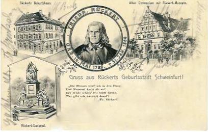 Geburtsstadt Friedrich Rückerts