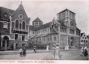 Mit unvollendetem Turm ca. 1903