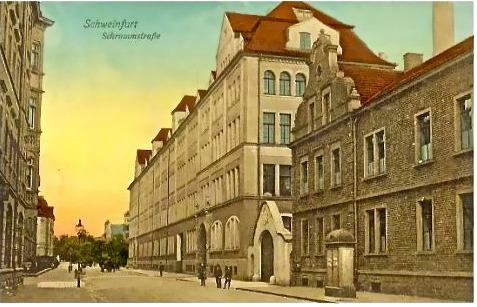 Schrammstraße um 1900 - hier steht jetzt das ECE
