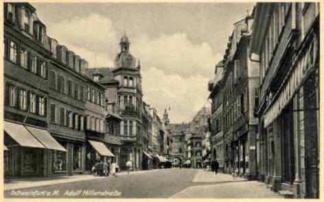 Adolf-Hitler-Str. = Spitalstraße in den End-1930ern