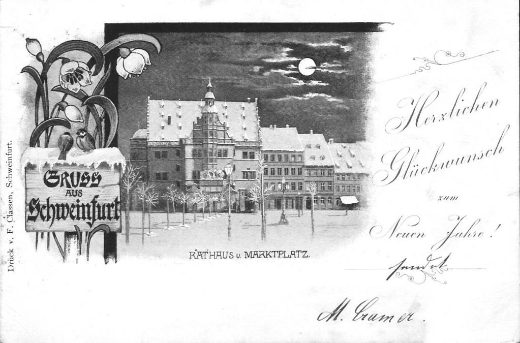 Marktplatz mit Rathaus 1899 - Danke Michael Kupfer