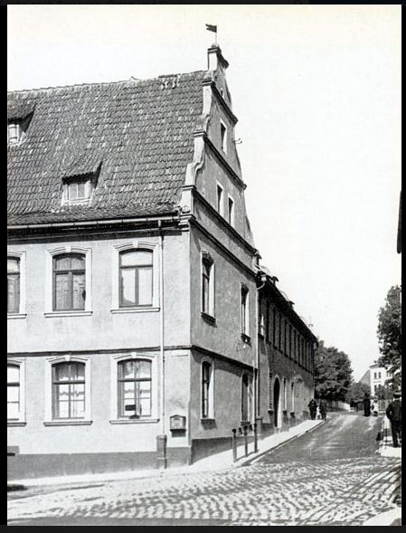 Lebküchnerhaus Ecke Neutorstraße/damalige Hadergasse, die jetzt südlicher verläuft - Blick in die Neutorstraße