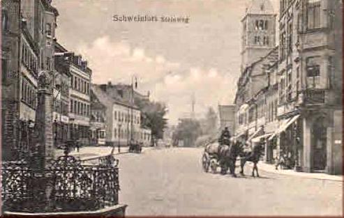 Steinweg = Schultesstraße ca. 1912