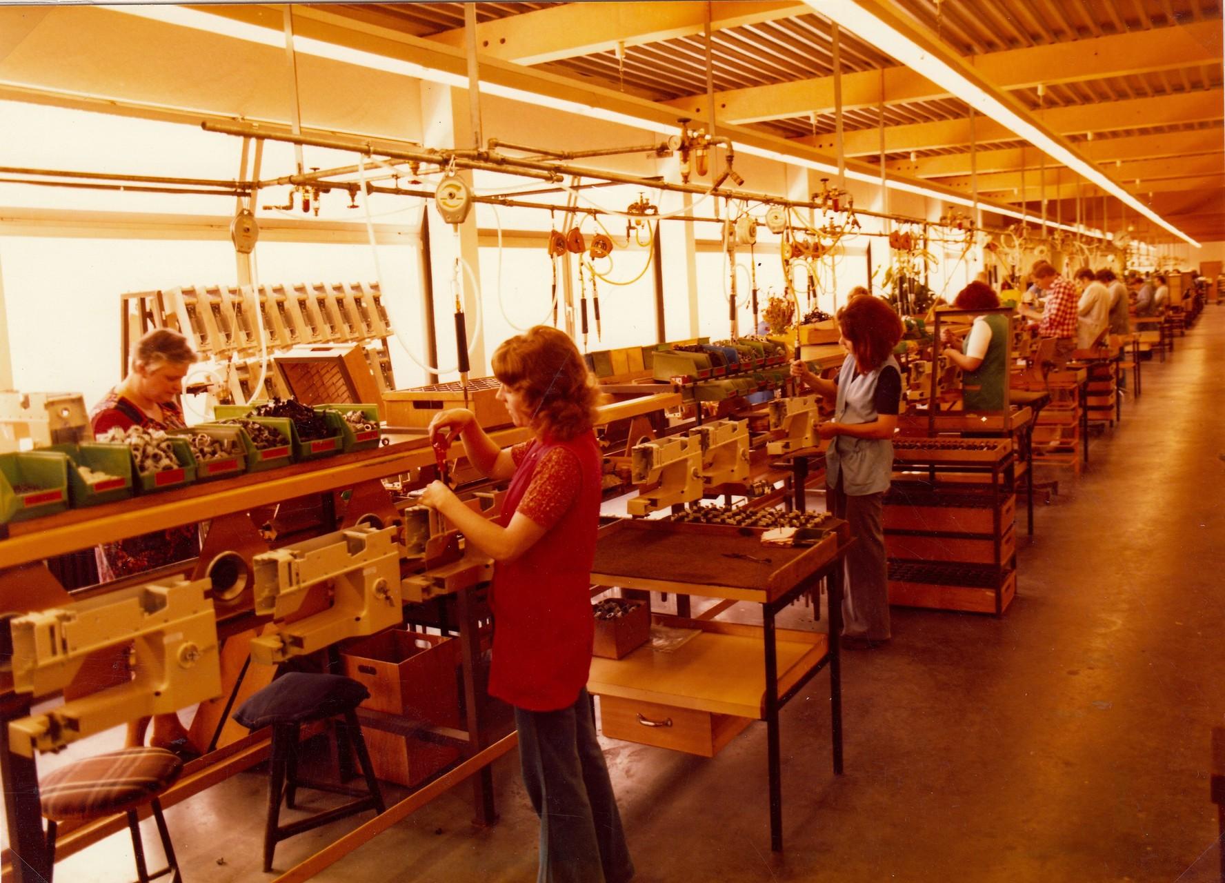 Montagelinie Haushaltsmaschinen 1979
