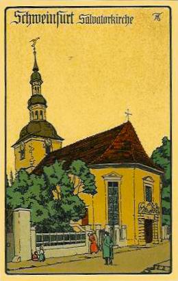 Steindruckansichtskarte um 1908