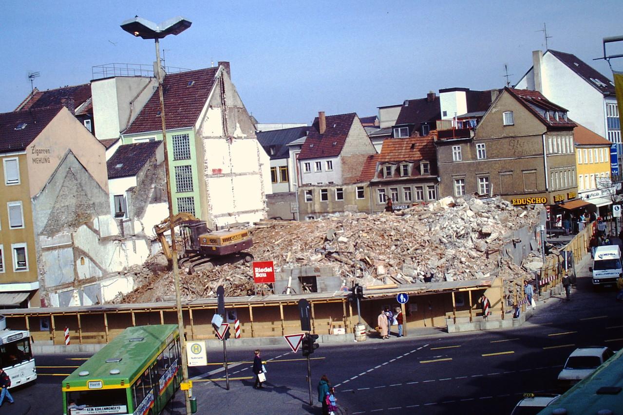 Abriss des Gebäudes