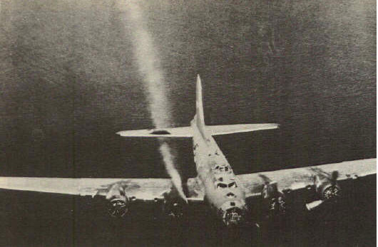 Ein getroffene B 17