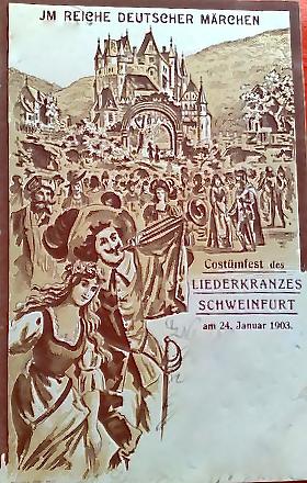 Kostümfest des Liederkranzes am 24. Januar 1903