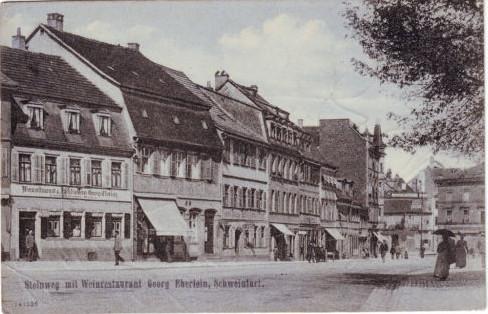 Schultesstr (damals Steinweg) 1908