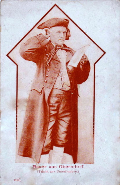 Oberndorfer Tracht um 1900
