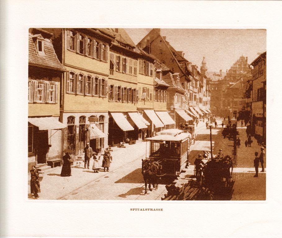 Die Spitalstraße mit der guten alten Pferdebahn - Danke an Michael Kupfer
