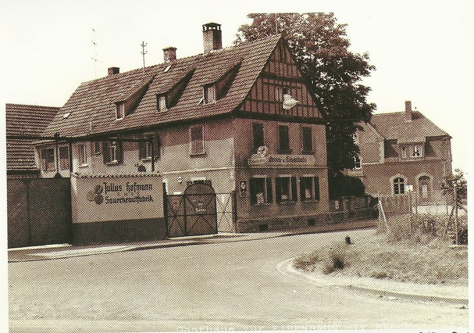 Gaststätte zur Eisenbahn u. Krautfabrik Julius Hofmann - Danke an Michl Kupfer