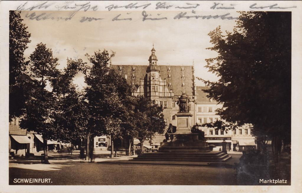 Marktplatz um 1931 - Danke an Florian Kohl