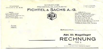 Rechnungsformular in den 1920ern