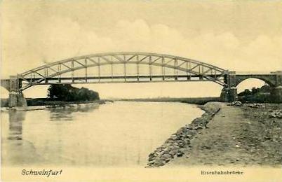 Eisenbahnbrücke um 1909