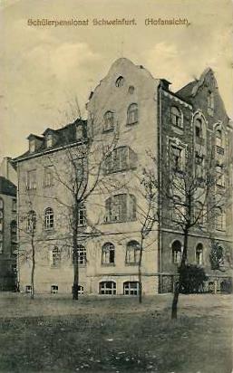 Schülerpensionat (Hofansicht) 1922