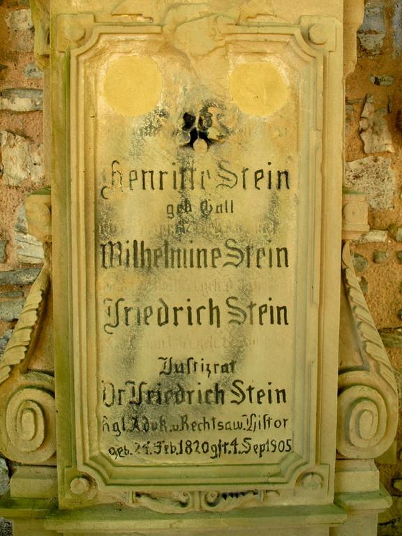 Grab des Dr, Friedrich Stein