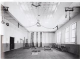 Die Turnhalle nach der Fertigstellung der Ludwigschule