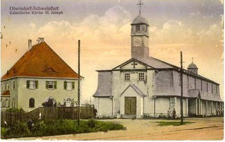 Die alte Pfarrkirche St. Joseph, wie sie 1921 entstanden war