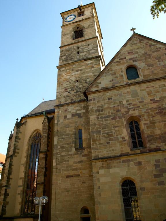 Blick vom Alten Gymnasium auf die Kirche
