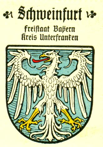 Wappenmarke von Schweinfurt von Kaffee-Hag, 1925