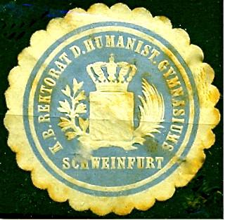 Siegelmarke des Rektorats des Kgl. Bayr. Humanistischen Gymnasiums