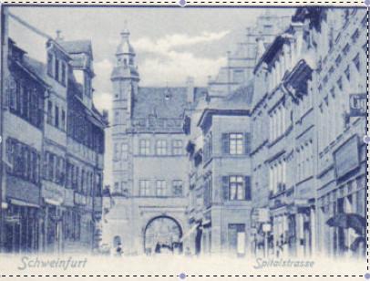 ca.1904 mit Blick auf das Rathaus