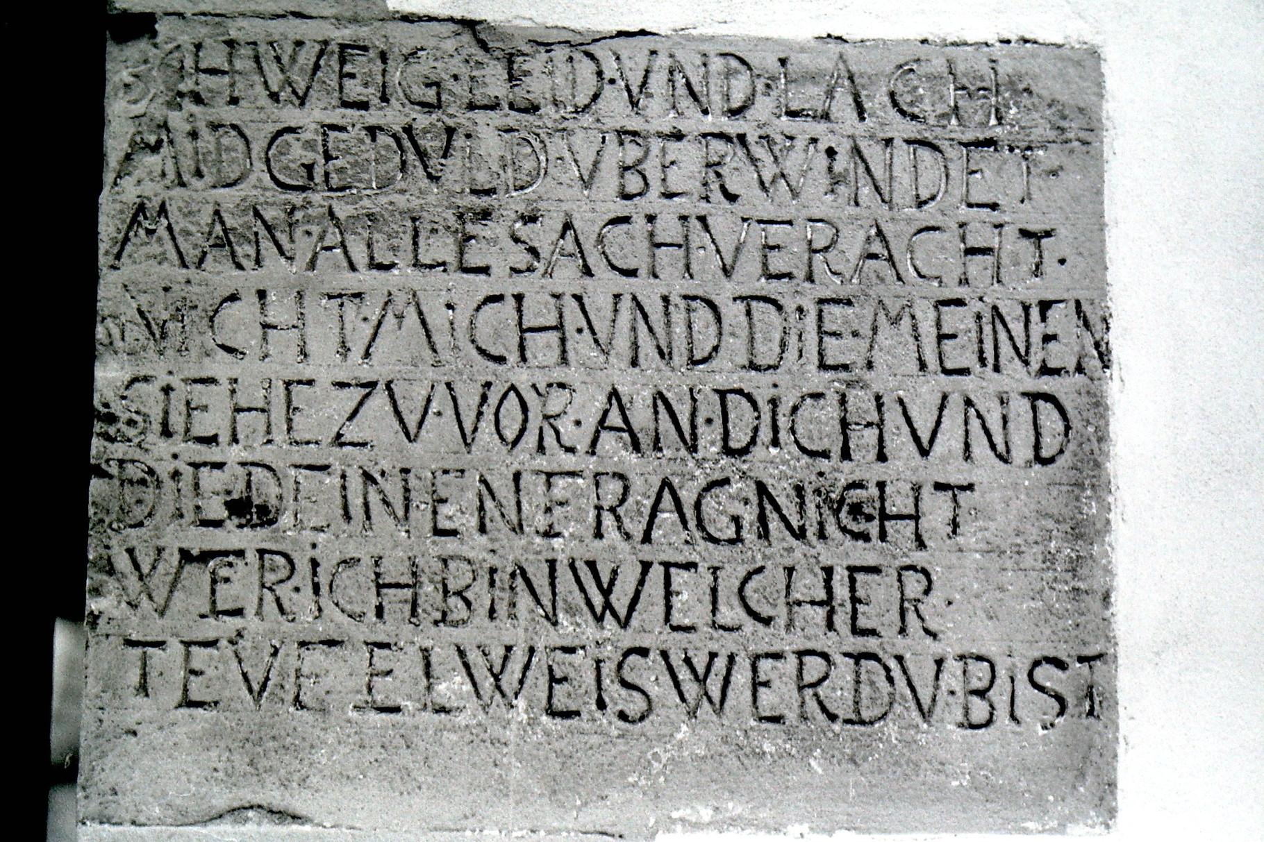 Inschrift Apostelhaus