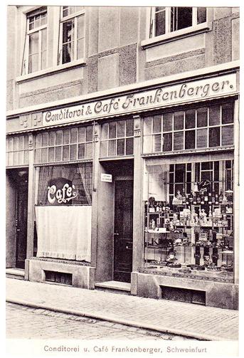 Das Cafe Frankenberger im Jahr 1912
