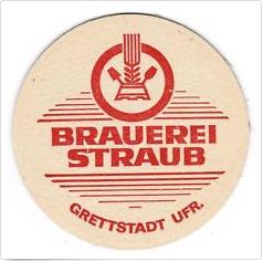 Brauerei Straub in Grettstadt existierte von 1863 bis 1969