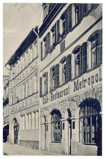 um 1920 in der Spitalstraße