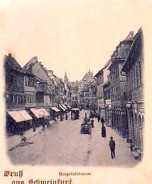 ca. 1896, als die Spitalstraße noch Hospitalstraße hieß
