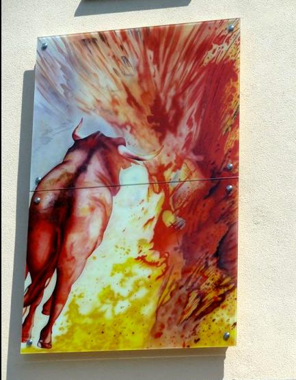 Kunst am Bau - Santander-Bank Ecke Spitalstr./Fischerrain Schweinfurt