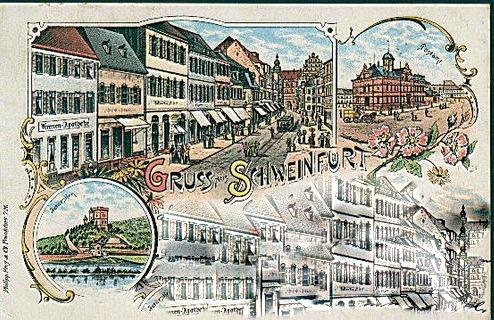 Schweinfurt um 1897