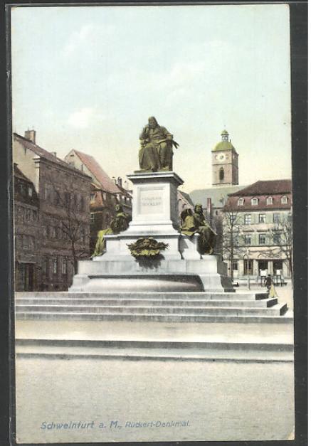 Friedrich-Rückert-Denkmal um 1910