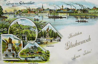 Schweinfurt - Variante: Neujahrsgrüße 1897
