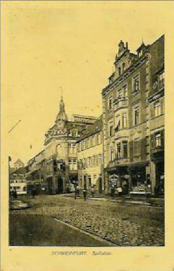 Spitalstraße um 1916