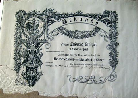 Schützenurkunde 1924