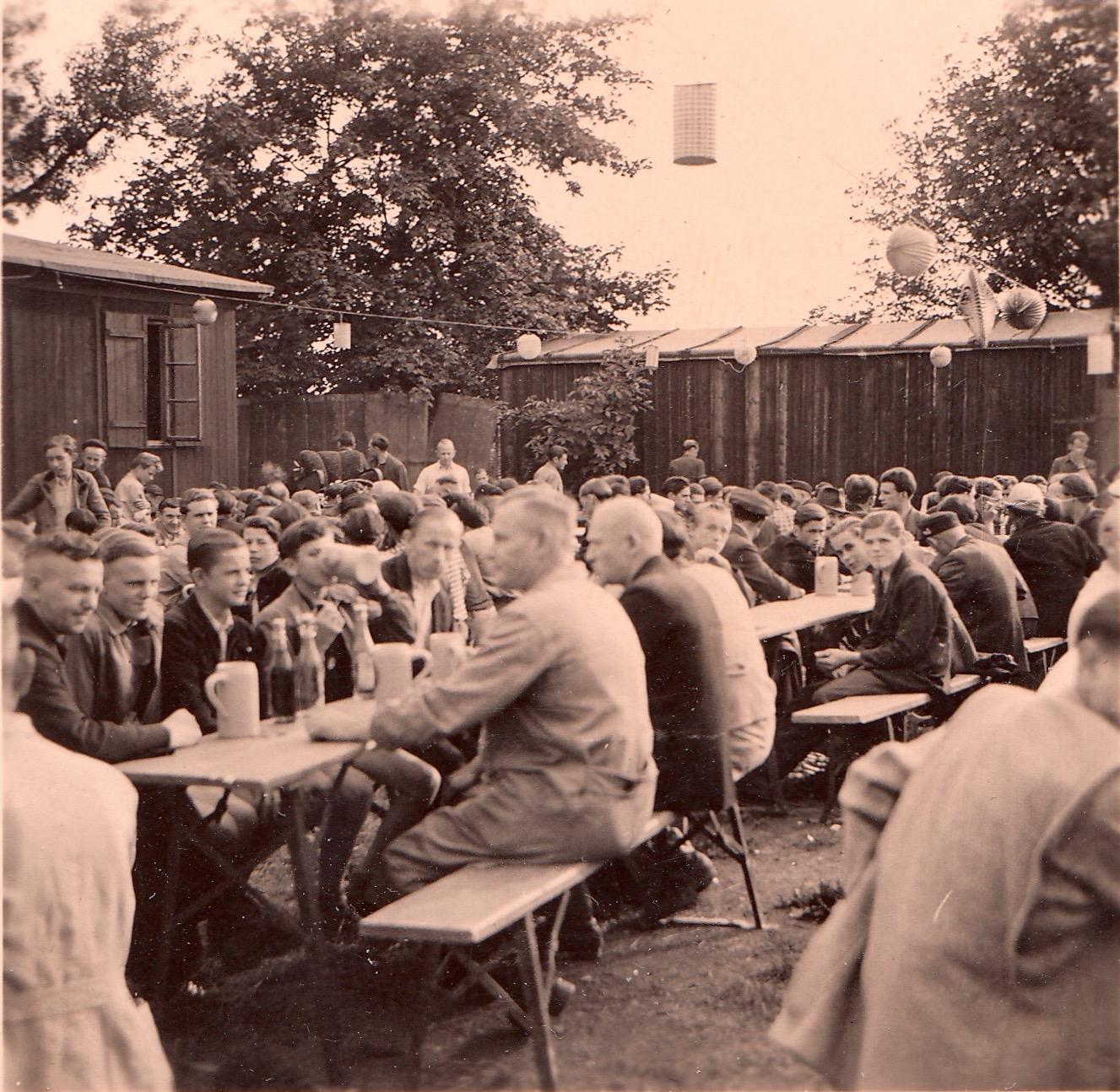 Betriebsfest auf dem Gelände der Firma Vogel beim Hutrasen in Schweinfurt
