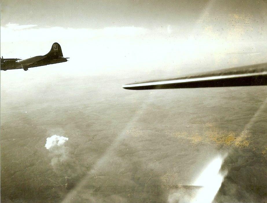 B17-Bomberangriff 390. Bombergruppe der Alliierten über Schweinfurt 14.10.1943